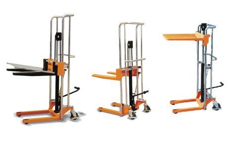 Apilador manual pequeño de 200 a 400 kilos con horquillas fijas o ajustables
